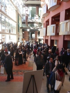 Conference participants in NJPAC Lobby