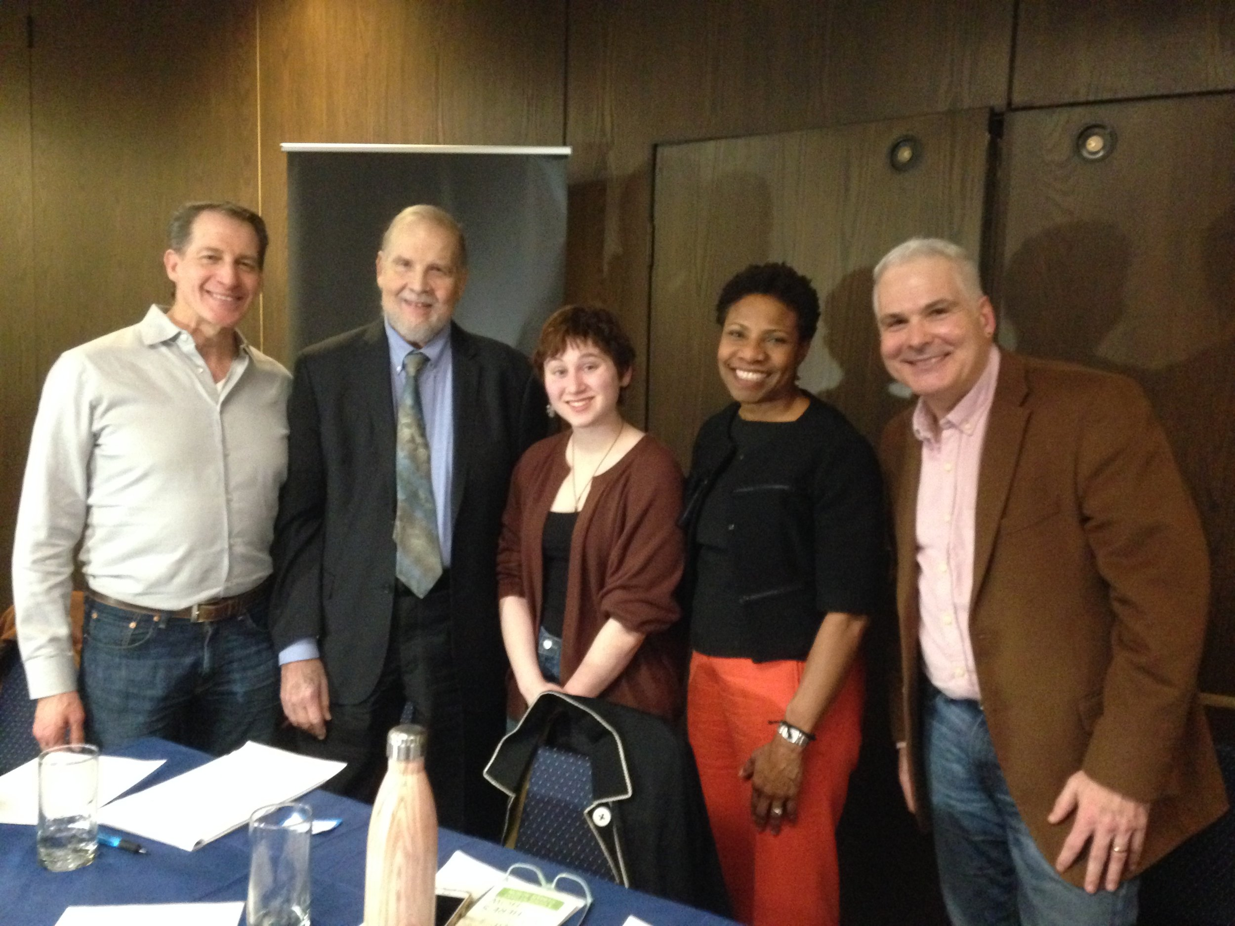 CivicStory forum panelists (l. to r.) Allan Chernoff, Edward Lloyd, Zahava Rojer, Patricia Canning and Michael Taylor