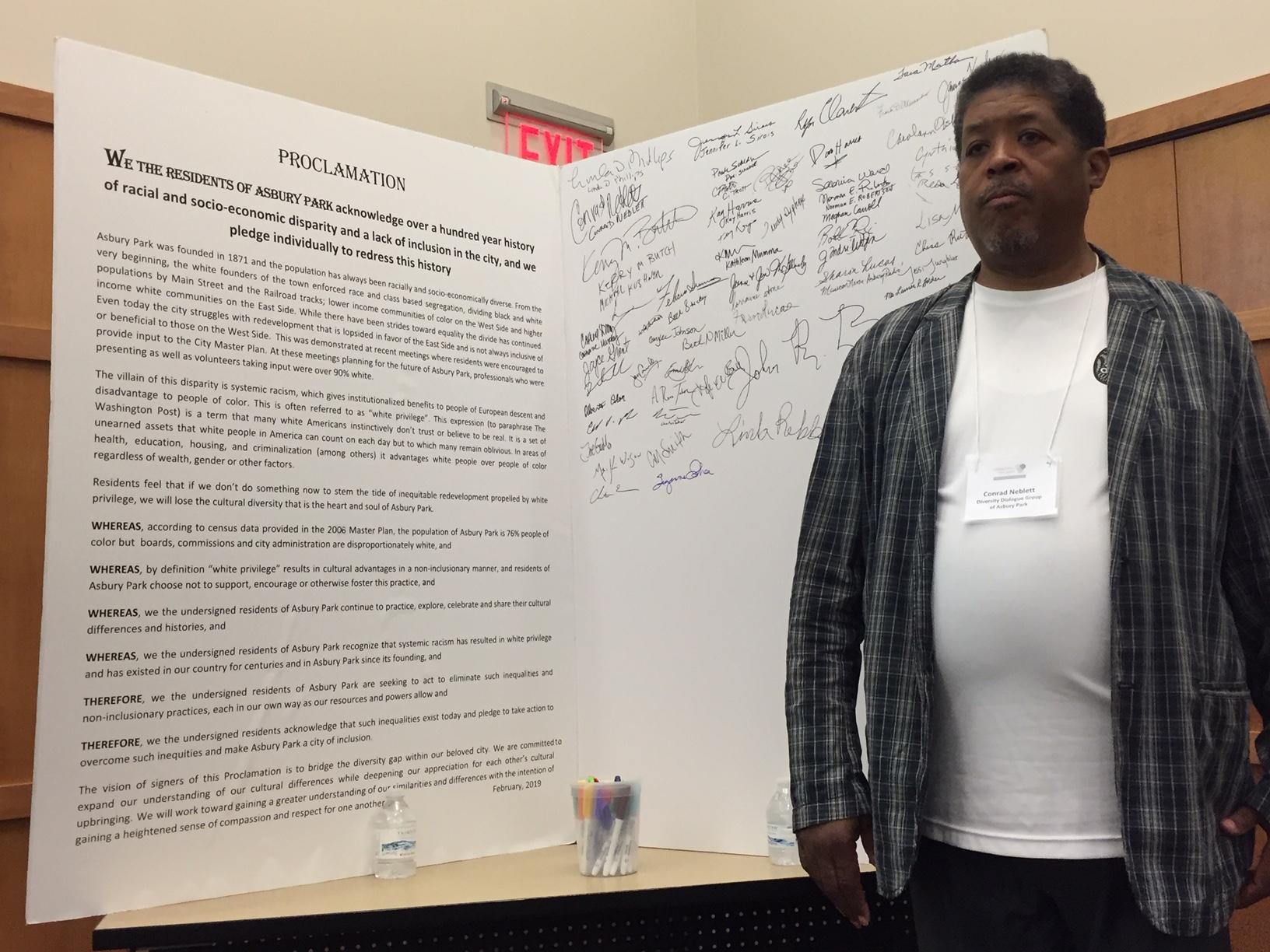 Conrad Neblett of Asbury Park Diversity Dialogue