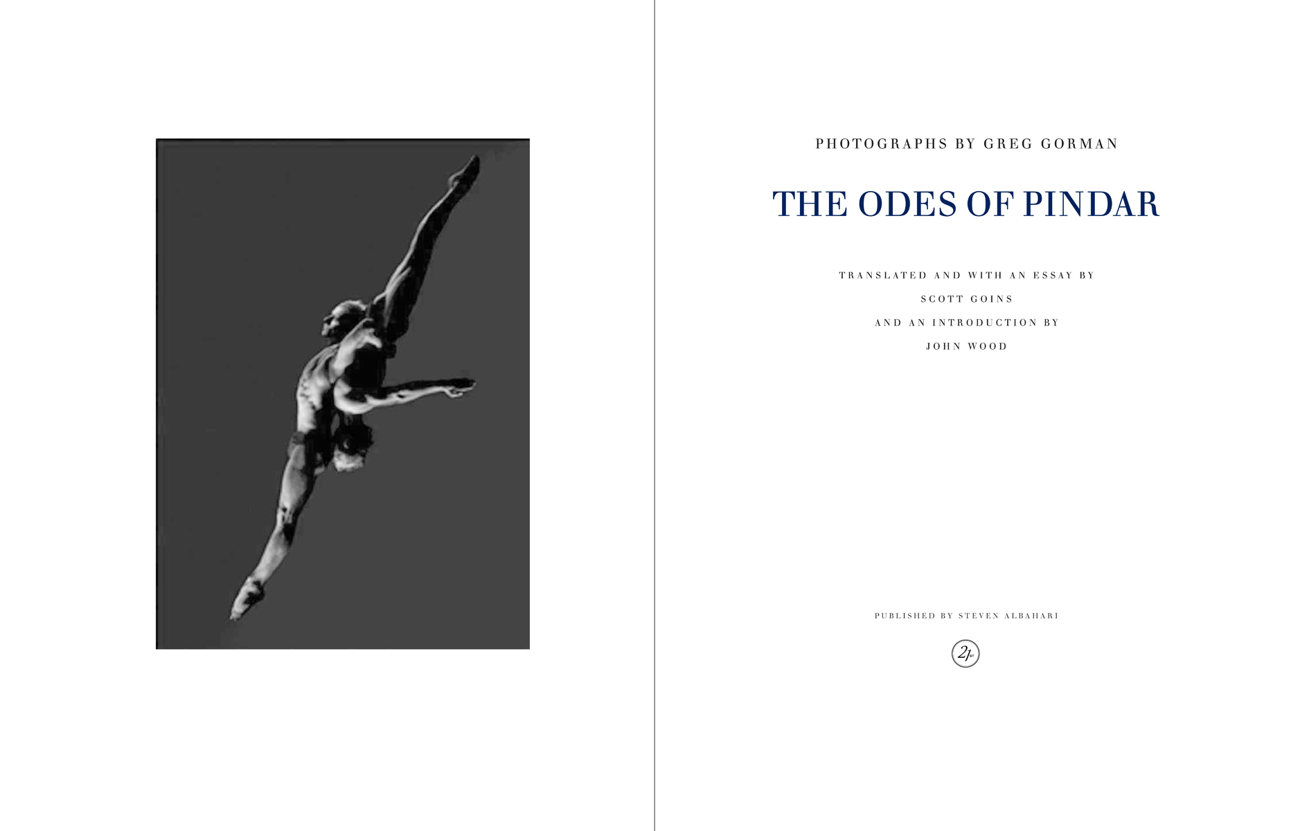 The Odes of Pindar, Greg Gorman