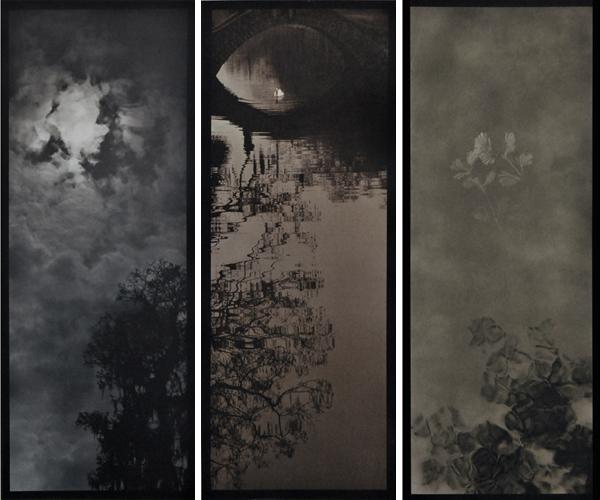 Gum-over-platinum triptych