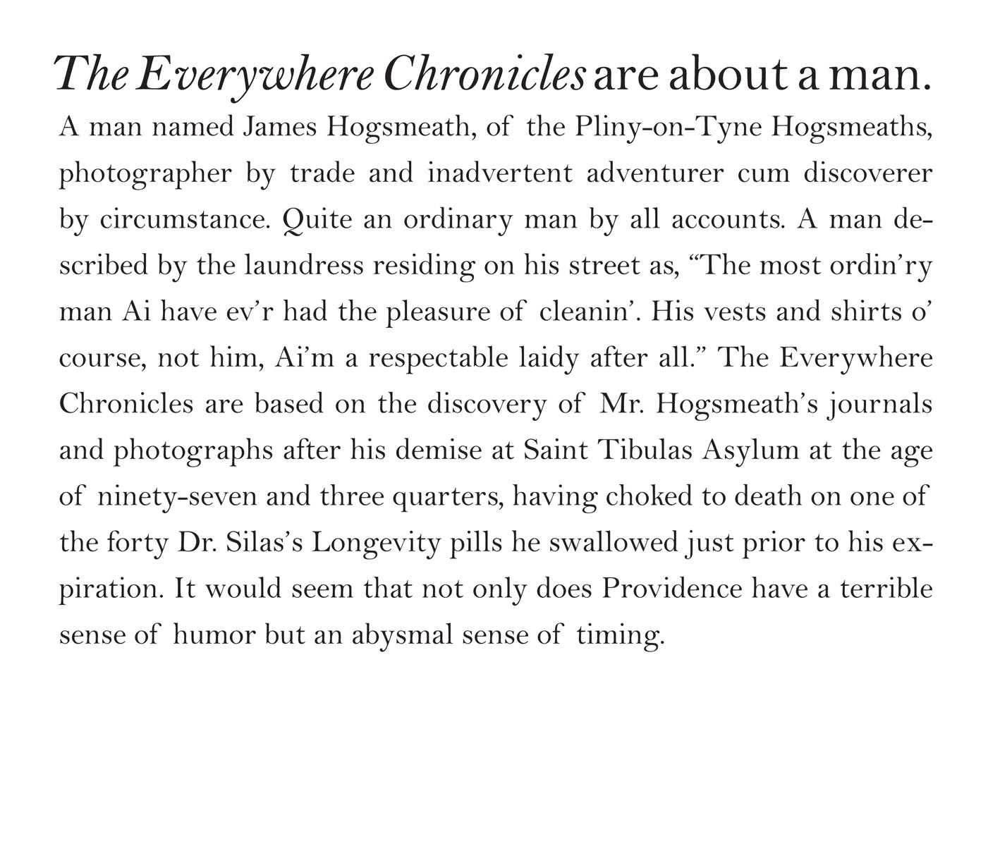 Jamie Baldridge, The Everywhere Chronicles
