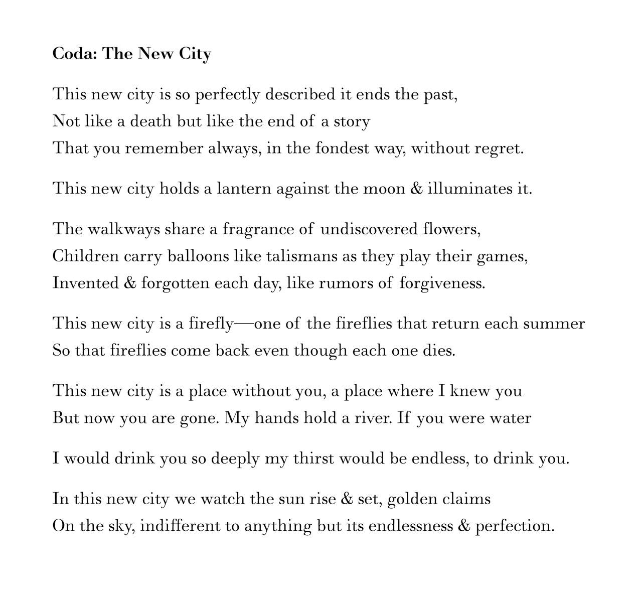 MacLean Gander, The New City