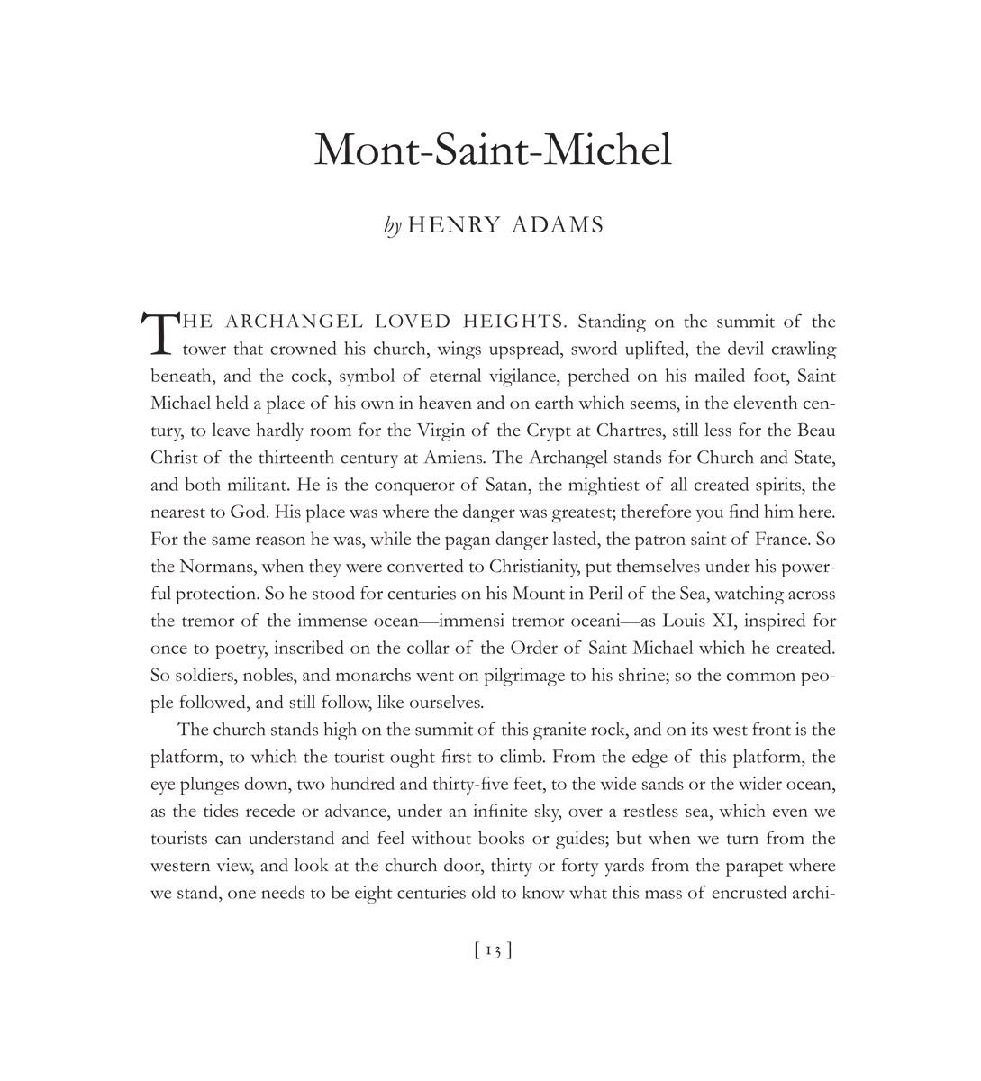 Henry Adams, Mont-Saint-Michel