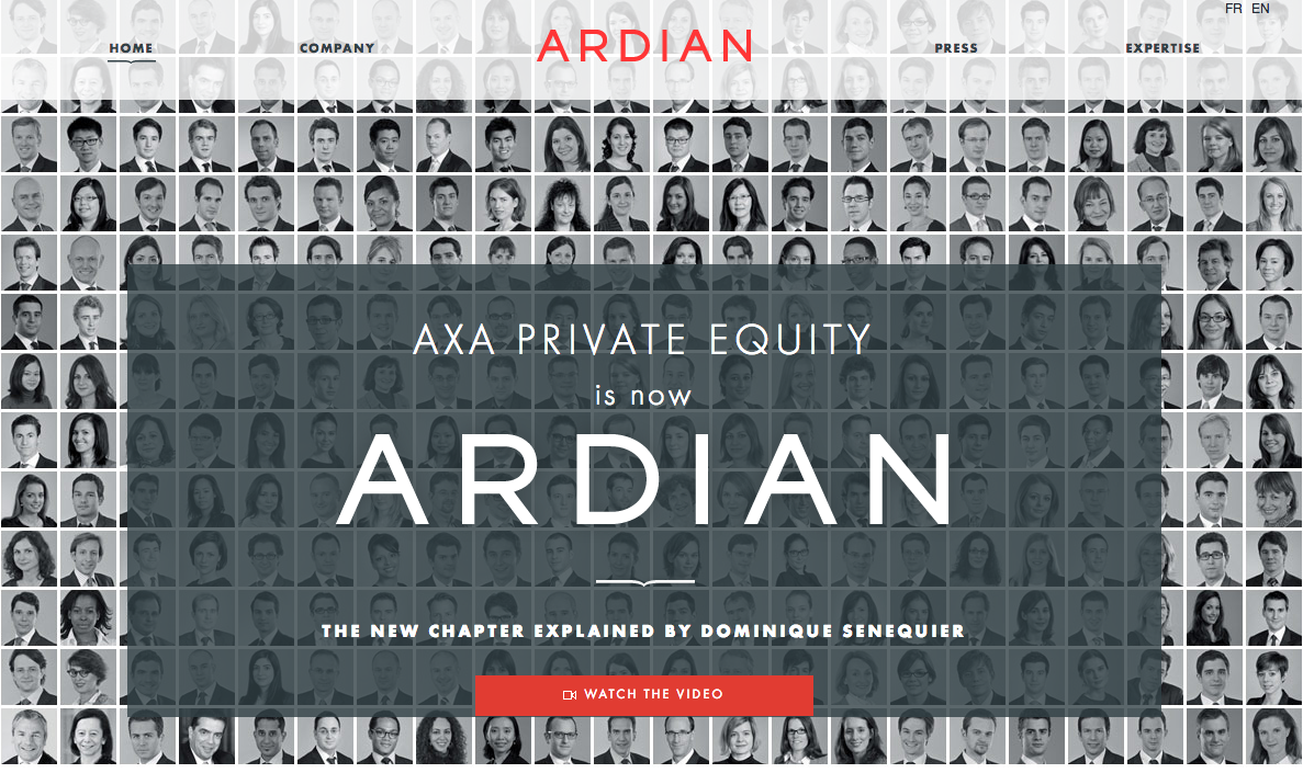 Ardian Private Equity. For the launch of this new company - which span off from Axa in 2013 - I wrote much of the copy, including the company history and the interview with the CEO.