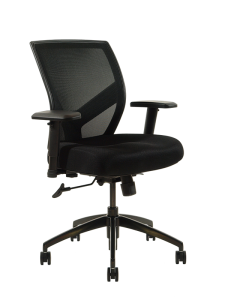 NPI 510- Task Seating with Syncro Control with Free floating. Comfort Seat & Curved Lumbar Back Support. Arms are height and width adjustable.