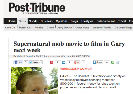 A number of things make news in Gary, most not positive, so Chicago Rot  was amongst a municipal report, incorrectly claimed to be a mob movie...