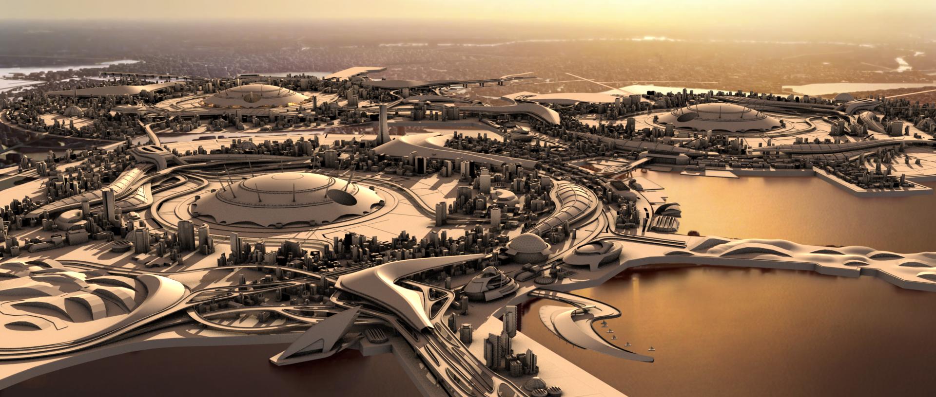 MASSARI QUIANA cityscape. Original concept by Marko Ljubez.