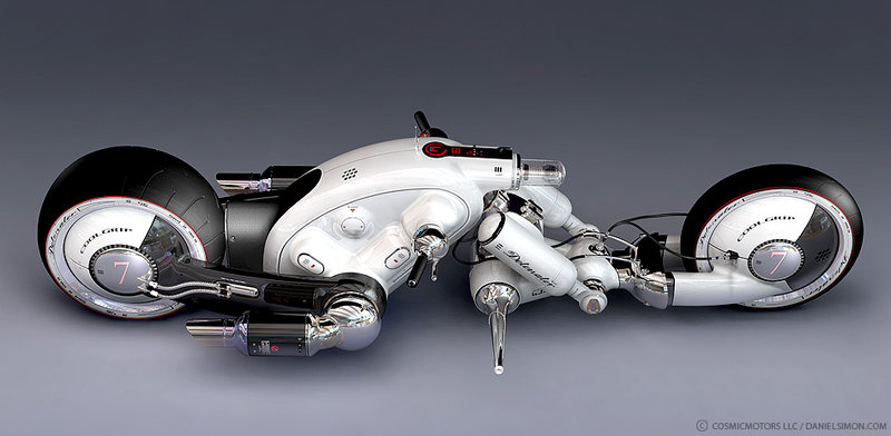 Motorcycle design by renowned vehicle designer Daniel Simon.