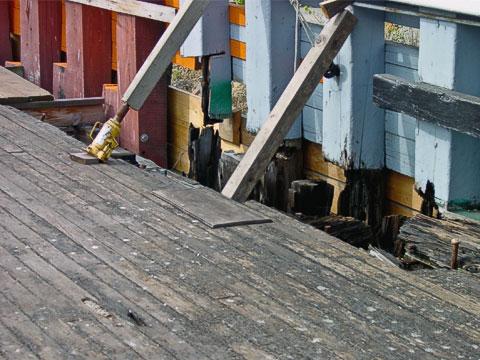 Deck water damage