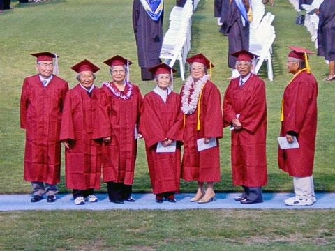 Sumi and classmates at graduation