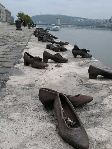 Memorial in shoes