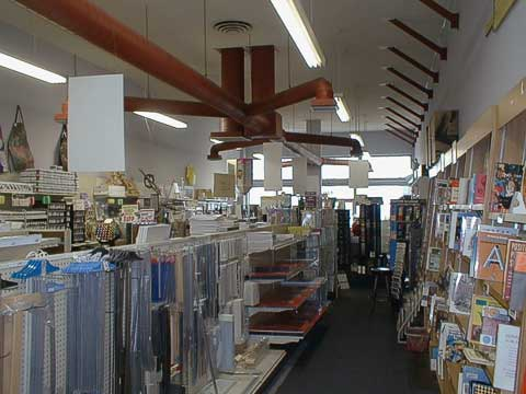 Books and engineering supply, looking towards cash registers