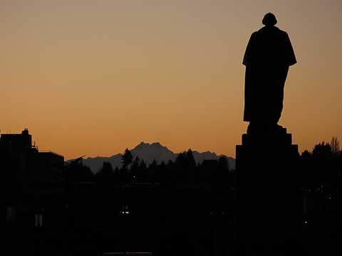 Sunset beyond George