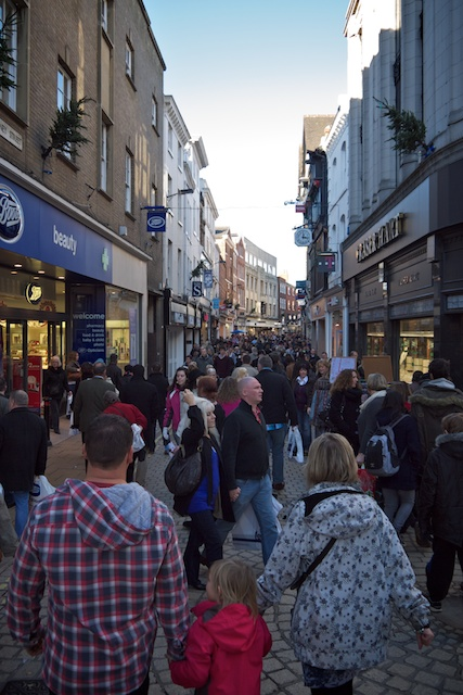 The streets of York were crowded on Saturday