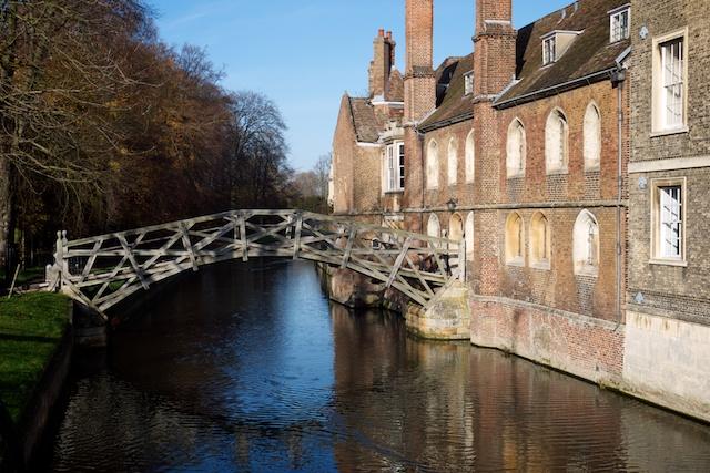 Bridge to Queens' College at Cambridge University