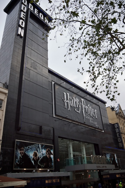 The Harry Potter movie was showing at the Odeon