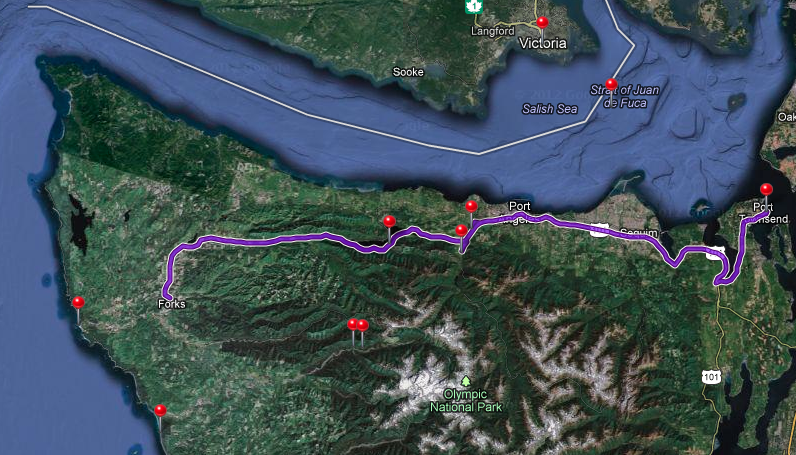 Trip from Forks to Port Townsend