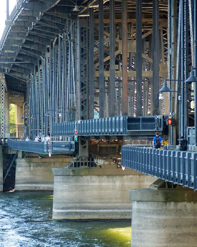 Steel Bridge raised