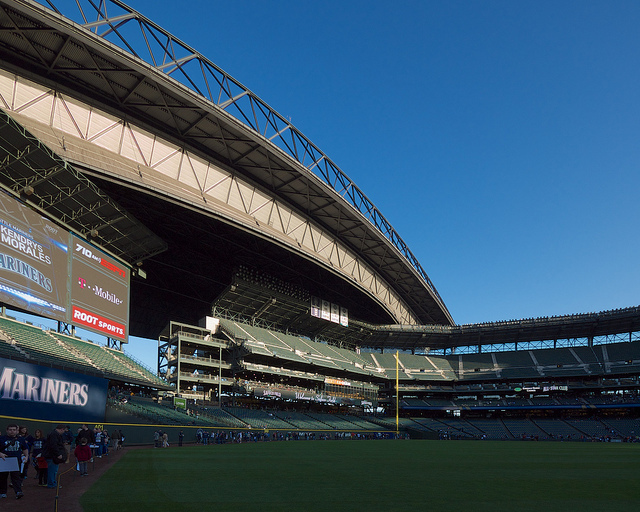 Right field with new video screen