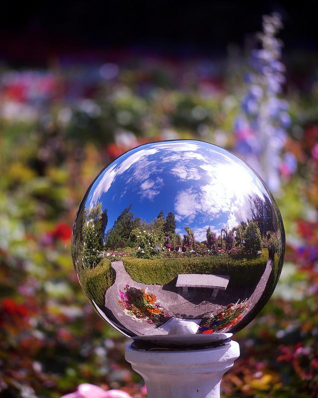 Sphere in Rose Garden