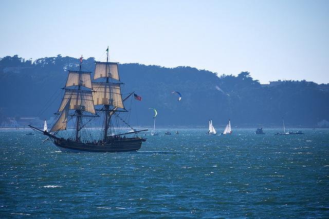 Tall ship in San Francisco Bay