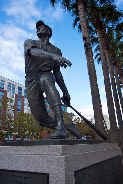 Willie Mays statue near AT&T Park