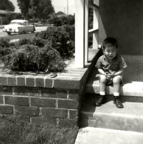 Frank on Hisa's porch in Long Beach. Summer 1965