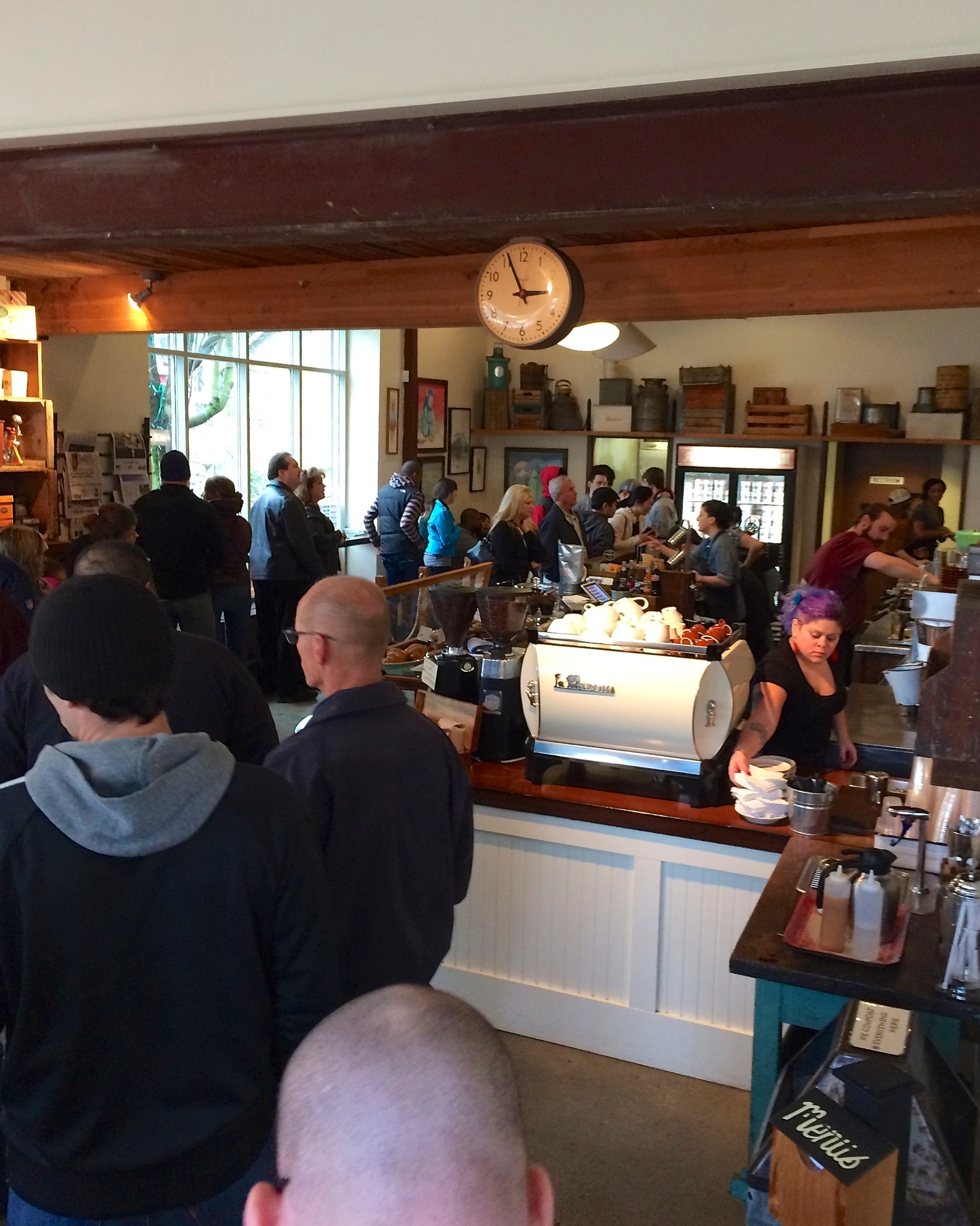 Long line at the Salt and Straw