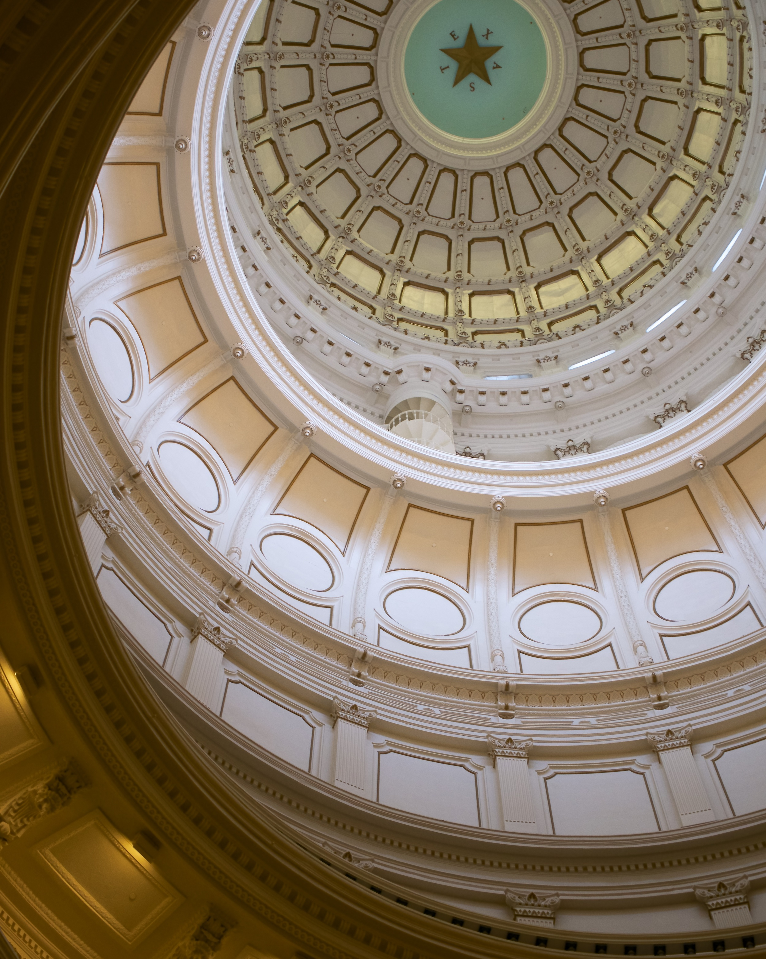 Inside of the dome of the Capitol