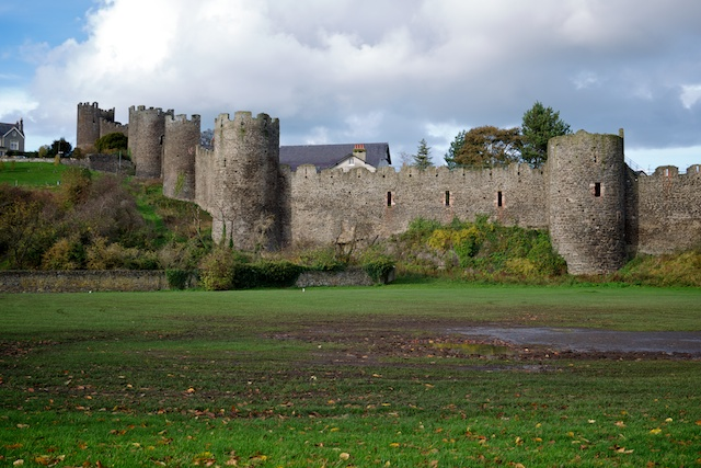Town walls of Conwy, including the highest, the Watchtower (on the left)