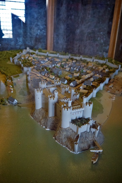 Model of the Conwy Castle and town