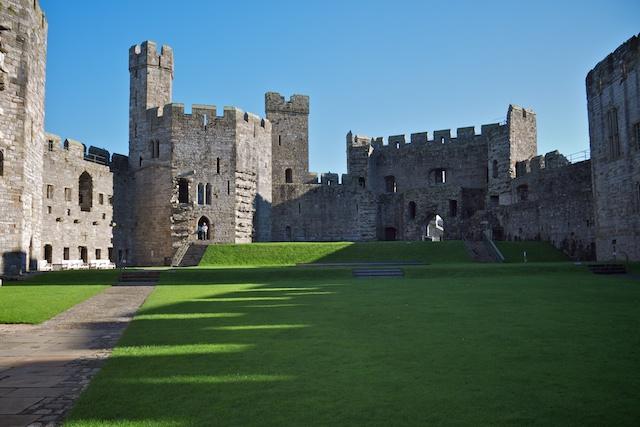 Inside Caernarfon Castle, again looking towards the Queen's Gate