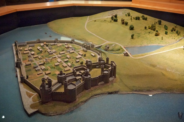 Model of Caernarfon Castle, showing how it would have looked in about 1339