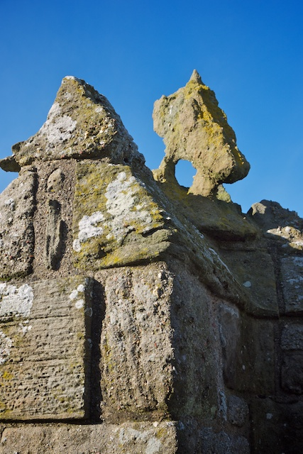 The Eagle Tower had three stone eagles atop its turrets; this is the best-preserved one