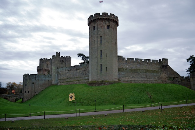 Warwick Castle, showing height of Guy's Tower