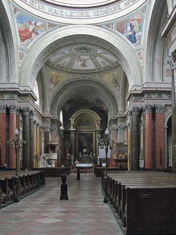 Interior of Eger Cathedral