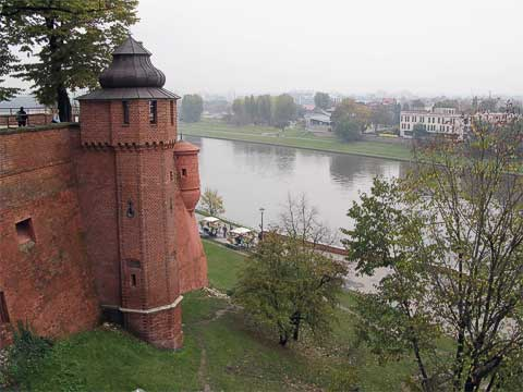 As can be expected from the top of a hill, the sights are great, including this one of the Vistula (Wisła) River.