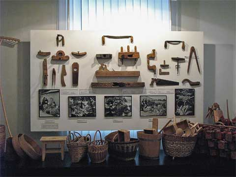 The second floor was had various trades and traditions. I naturally had to take a picture of the woodworking tools.