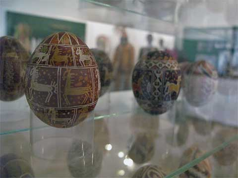 There were hundreds of painted eggs on display in the section dedicated to holiday decorations.