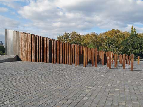 On the edge of City Park are a series of monuments, including this one dedicated to the 1956 uprising. This used to be the site of a giant monument to Josef Stalin which was toppled during the uprising.