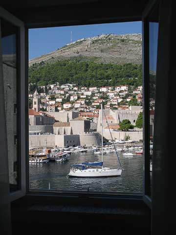 View from our room of the Old Port (Gradska luka).