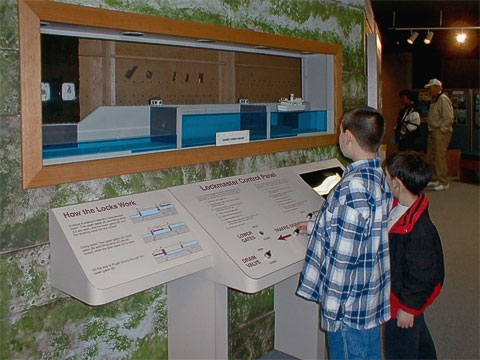The visitor center used to have this model of how the locks operate.