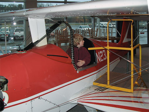 The Flight Zone has many planes where kids can climb in and manipulate the controls.