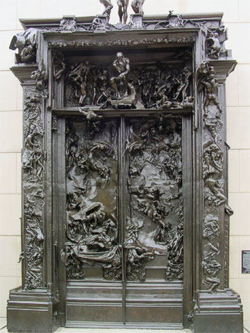 Stanford has a Rodin Sculpture Garden which includes the Gates of Hell.