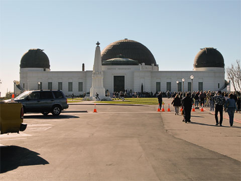 The Griffith Observatory building is quite well known. In addition to being a popular destination, it's been featured in several movies, probably the most famous being Rebel Without a Cause .