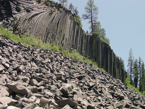 Most of the columns. What you can't see is the postpile of broken, fallen columns is actually quite a bit larger than can be seen in this picture.