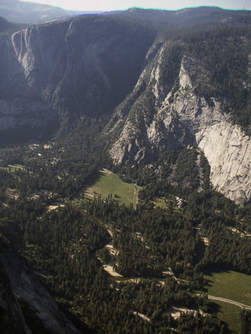 Yosemite Valley as seen from Glacier Point. From 1988.