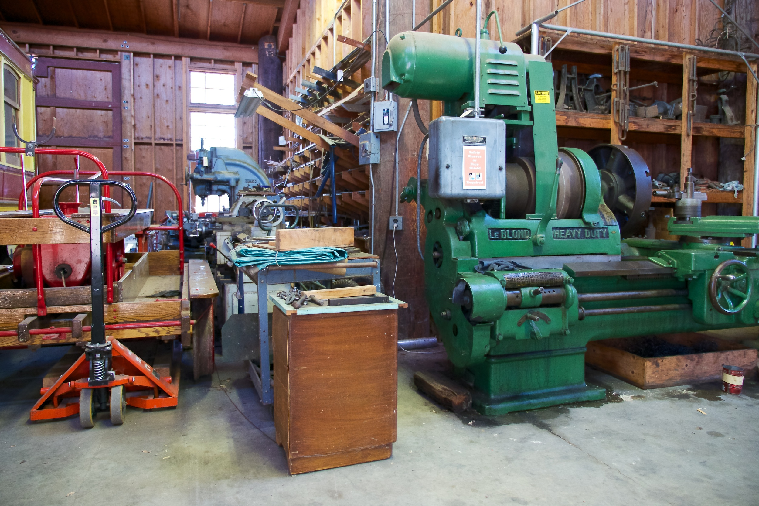 Machinery at the trolly barn