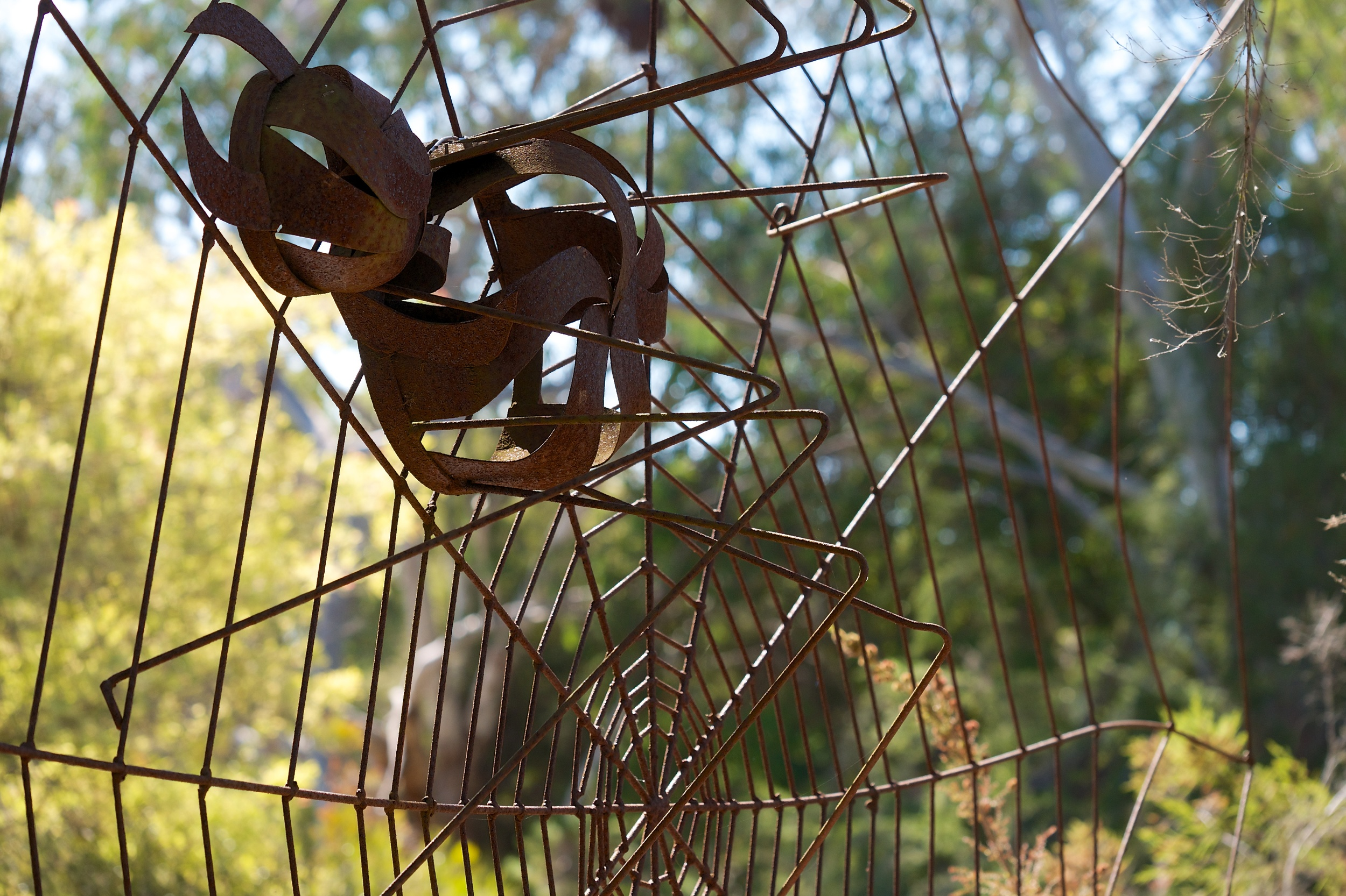 The spider in this sculpture was several feet across